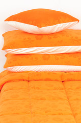 Orange bedding.