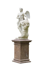 Hermes or angel sculpture
