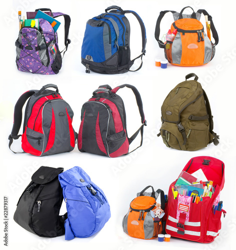 Collection of backpacks