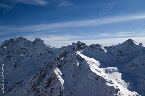 Panoramic view from Elbrus
