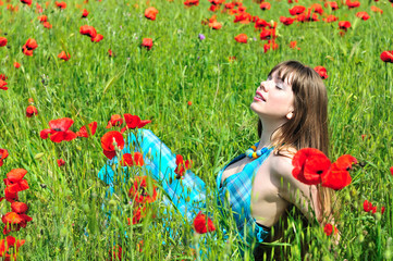 relax in poppy field