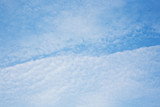 sky with harmonic cloud structure poster