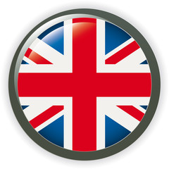 Orb UK Flag vector button illustration 3D