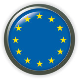 orb EUROPE Flag vector button illustration 3D