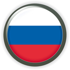Orb RUSSIA Flag vector button illustration 3D