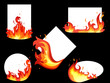 Set of fire cards - 22883953