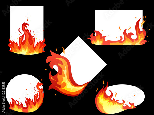 Set of fire cards