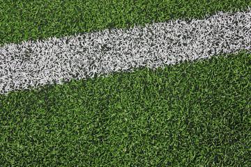 Fußballkunstrasen & Linie, rechts oben