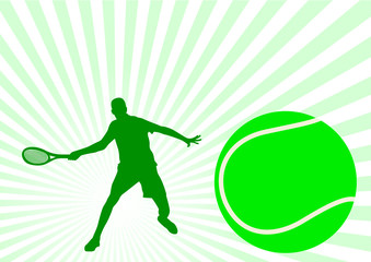 Sport illustration with tennis player
