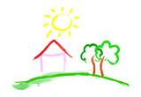 Fototapety Hausbau - Home Sweet Home