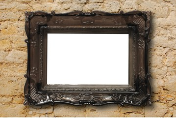 blank image frame and wall