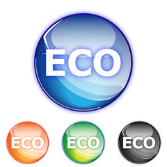 Picto ECO - Icon ecologic - collection color