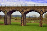 Victorian railway viaduct poster