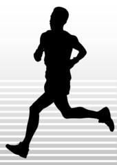 Running sports man