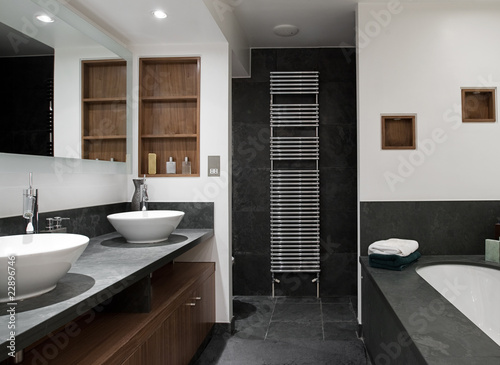 Luxury Bathroom with His and Hers Sinks