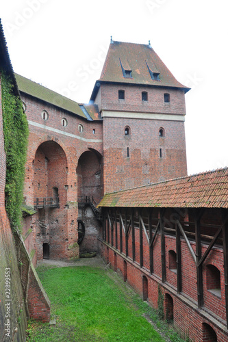 Famous castle in Malbork / Marienburg , Poland