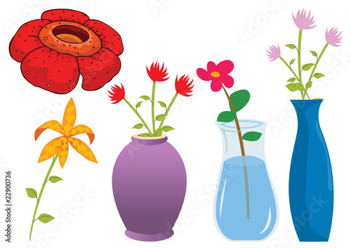 Assorted flower of nature illustration in vector