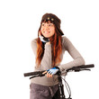 woman bicyclist