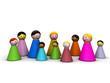 Gruppo multietnico ridotto