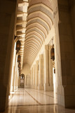 Muscat, Oman - Sultan Qaboos Grand Mosque - Arcade poster
