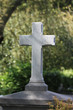 plain cross grave stone