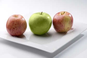 Manzanas tricolores