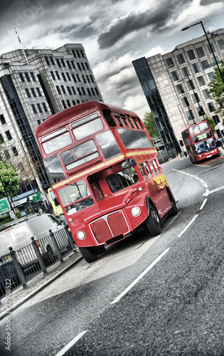 Fototapete Londoner - Uk - Bus