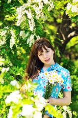 near blossom acacia