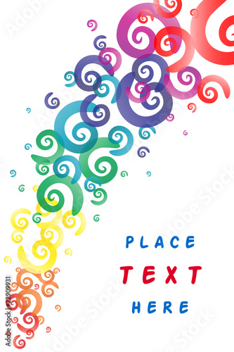 Abstract spirals background