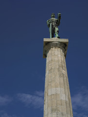 The Victor, Landmark symbol of Belgrade, Serbia