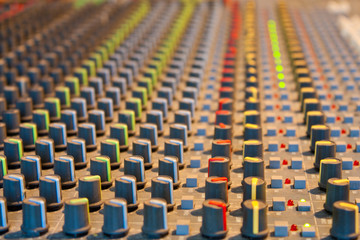 Colors of sound (mixing console texture)