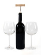 red wine with hand made clipping path