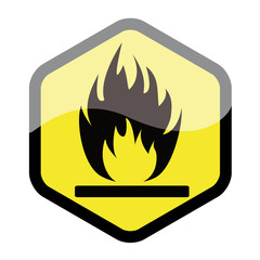 Warning fire sign