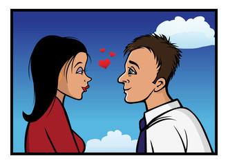 romantic gaze couple