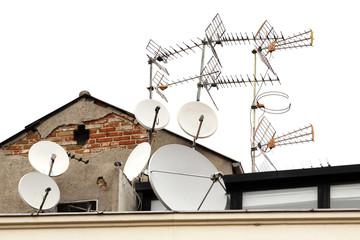 Antennas on roof