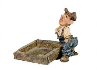 a farm worker with a pallet
