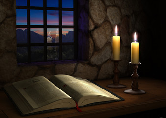 Bible Near a Window