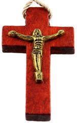 Christ en croix de chapelet, fond blanc