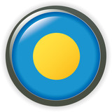 Flag button series of all sovereign countries - Palau poster