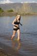 peaceful running lake