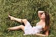 relaxing on hayloft