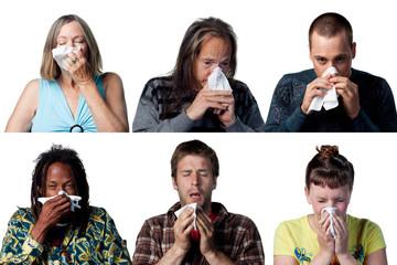 Six sneezes