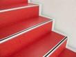 Leinwanddruck Bild - Rote Treppe - Treppenstufen