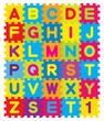 Vector Alphabet Puzzle