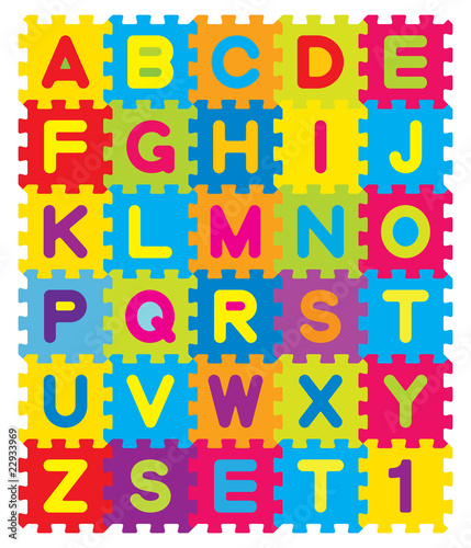 Sticker Vector Alphabet Puzzle
