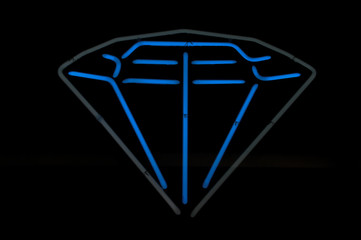 Diamond Neon Blue and Gray Sign