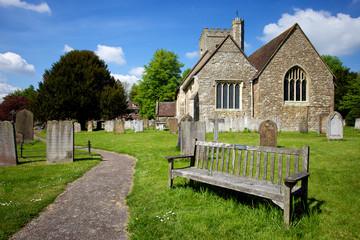 Rural English Church Scene