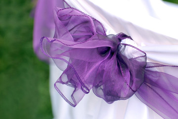 Violet wedding ribbon