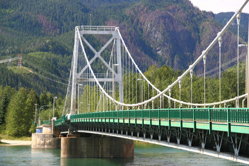 Columbia River bridge in Revelstoke