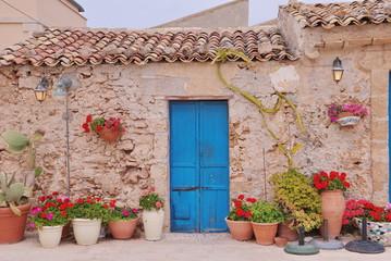 porta blu